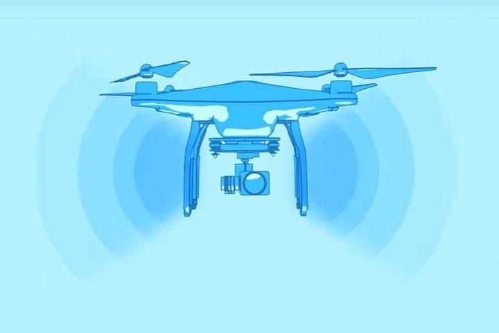 航拍機底部的信號接收能力比較差,不建議航拍機在垂直上方飛行