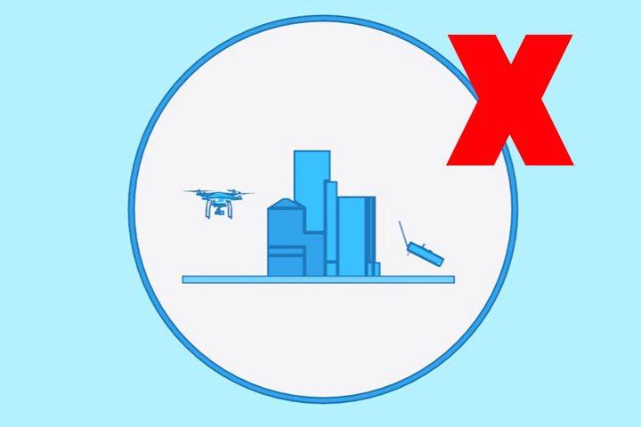 不要把航拍機飛在建築物後