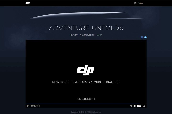 https://live.dji.com 網上直播「Adventure Unfolds」活動