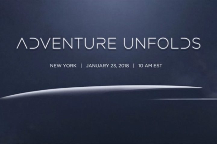 1 月 23 日於紐約 (New York) 舉行的「Adventure Unfolds」活動